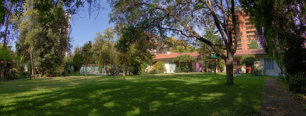 General view of the gardens of ESO's guesthouse